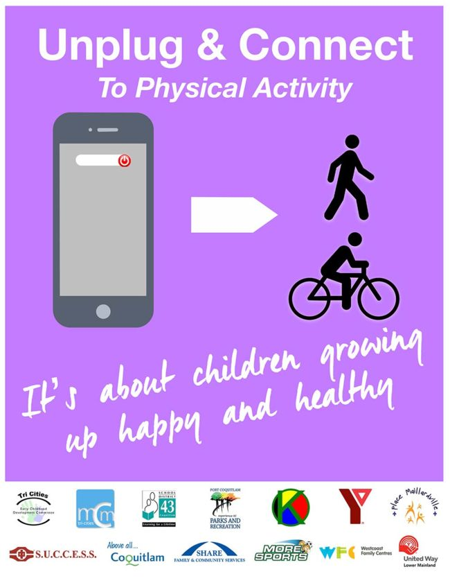 Unplug & Connect to Physical Activity Poster - Front