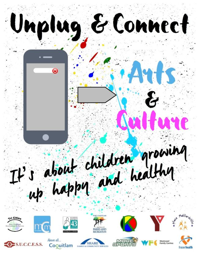 Unplug & Connect To Arts & Culture Poster - Front