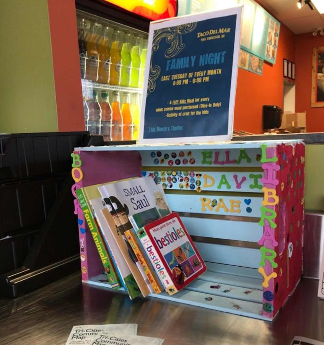 Book Box at Taco Del Mar